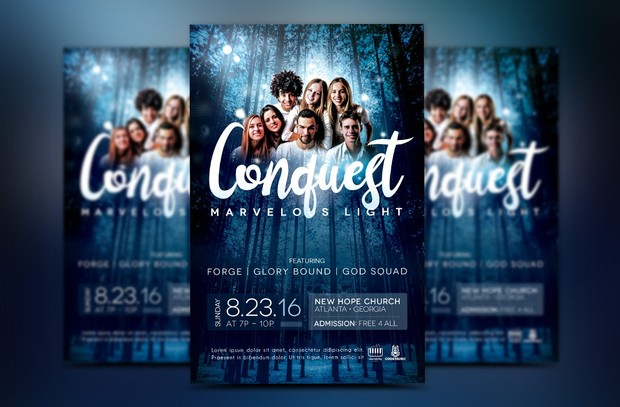 youth concert flyer template godserv designs