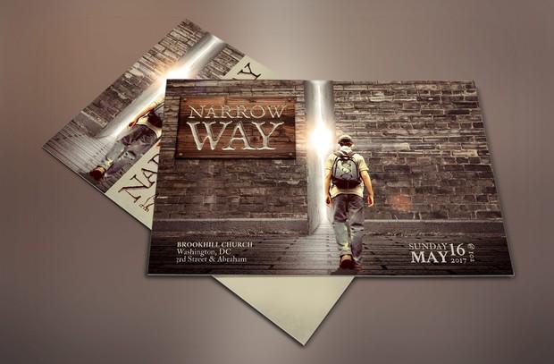 Narrow Way Flyer Poster Template