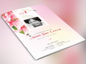 Petals Funeral Program Photoshop Template
