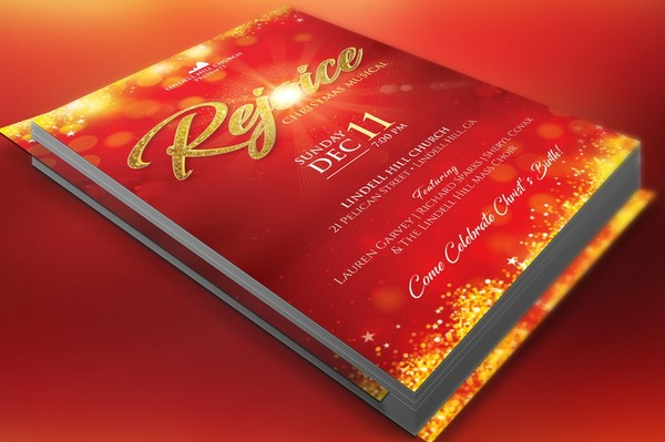 Rejoice Christmas Flyer Poster Template