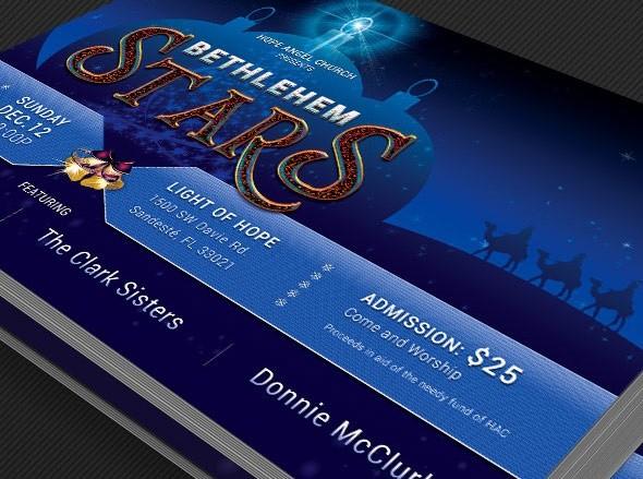 Christmas Concert Postcard Template