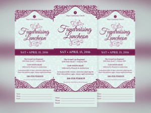 Luncheon Ticket Photoshop Template