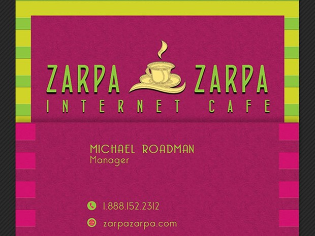 Internet Cafe Business Card Template
