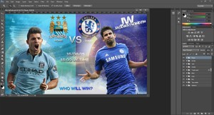 FULLY EDITABLE FOOTBALL (WHO WILL WIN) MATCH TEMPLATE
