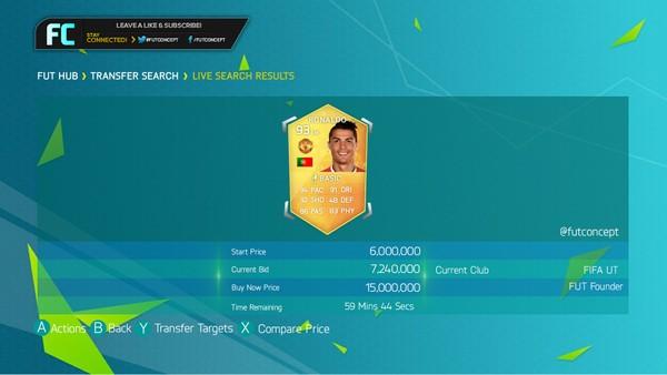 FIFA 18 Transfer Market Template HD