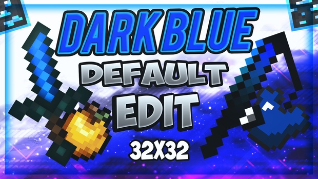DustStorm's Dark Blue Default PvP Pack Edit 32x