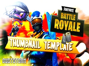 DustStorm Fortnite Thumbnail Template