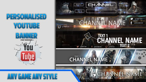 Personalised Youtube Banner