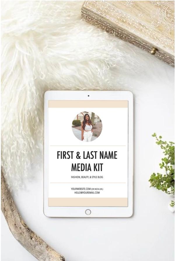 Customizable Influencer Media Kit Digital Download!