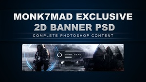 Exclusive 2D YouTube Banner [PSD]