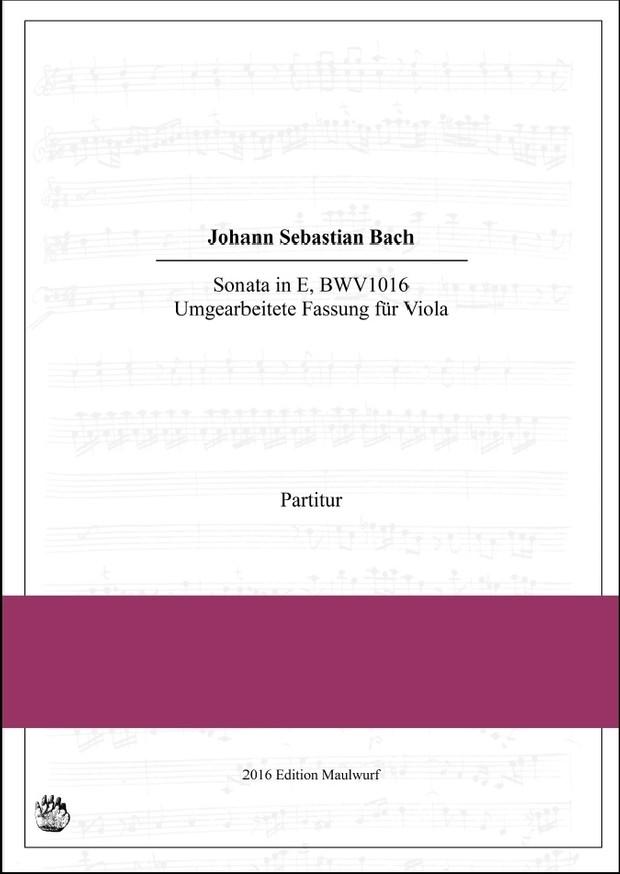 Bach Sonata in E (BWV1016)