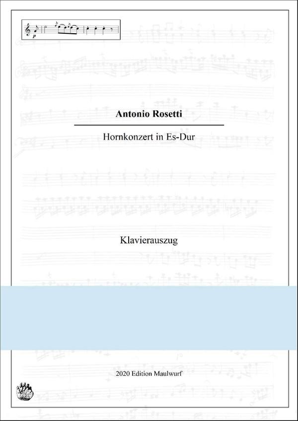 Rosetti Hornkonzert in Es, Klavierauszug