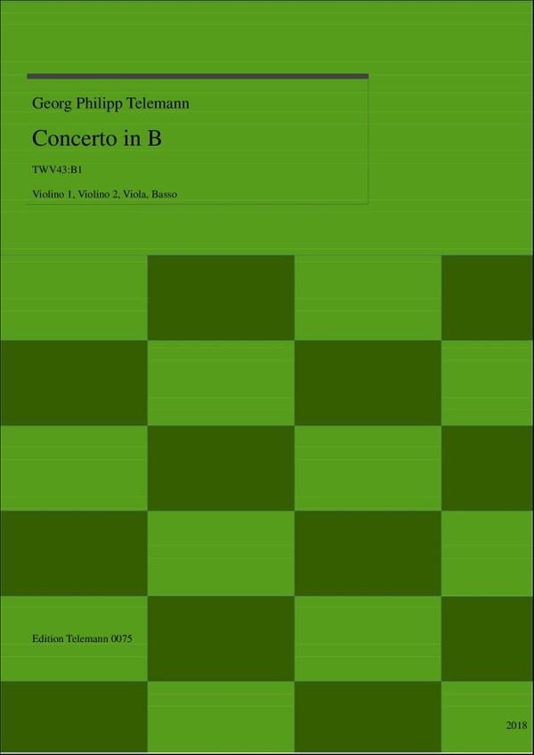 0075 Concerto in B, TWV43:B1