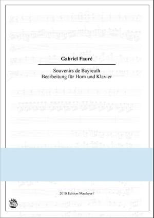 Souvenirs de Bayreuth for Horn und Klavier