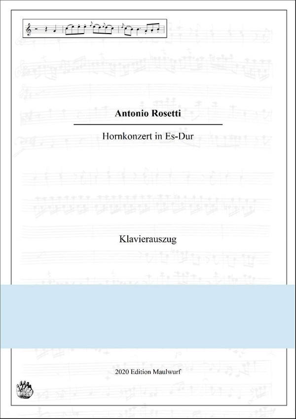 Rosetti Hornkonzert in Es Klavierauszug
