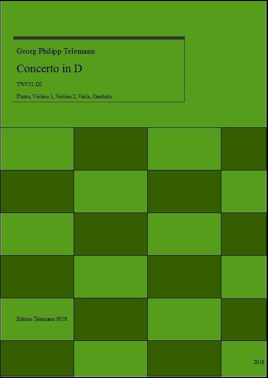 Telemann Concerto in D TWV51:D2