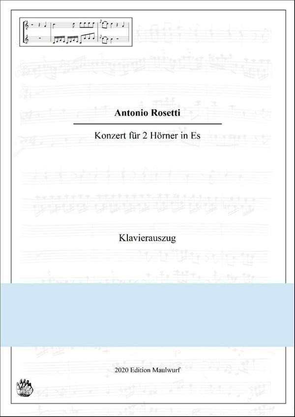 Rosetti Konzert für 2 Hörner in Es, Klavierauszug
