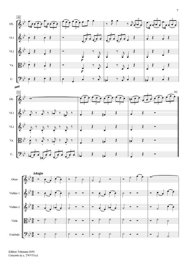 Telemann Concerto in c TWV51:c1
