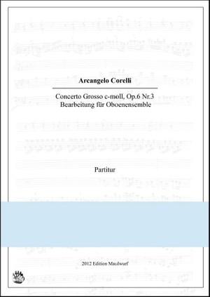 Corelli Concerto Grosso (Oboenensemble)
