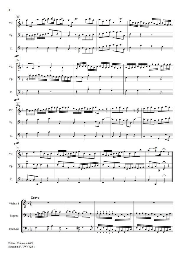 Sonata in F TWV42:F1