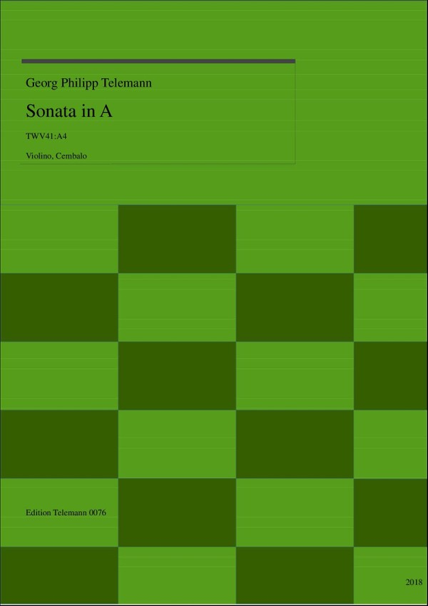 0076 Sonata in A, TWV41:A4