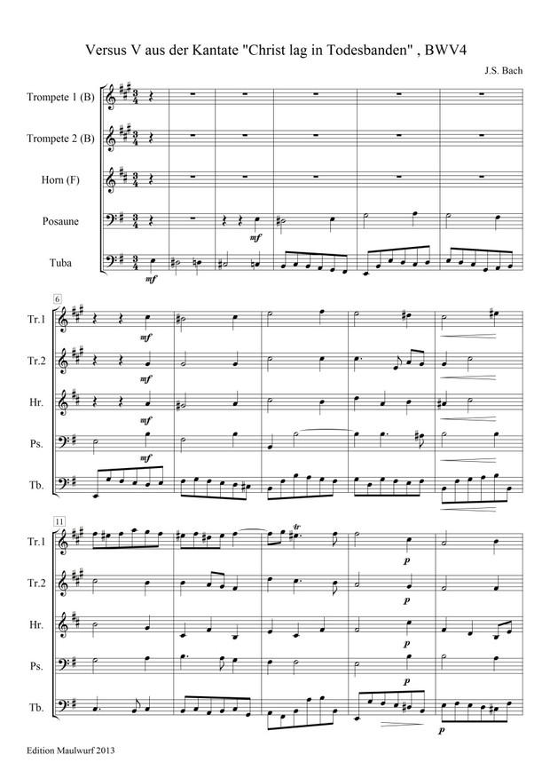 Bach Cantata BWV4 (Blechbläserquintett)