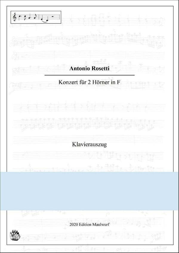 Rosetti Konzert für 2 Hörner, Klavierauszug