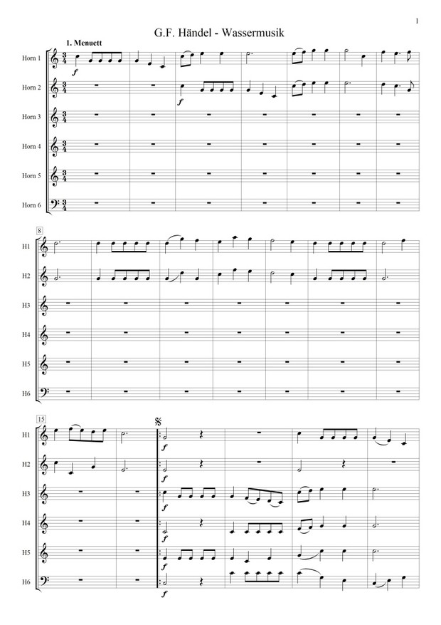 Wassermusik (Hornensemble)