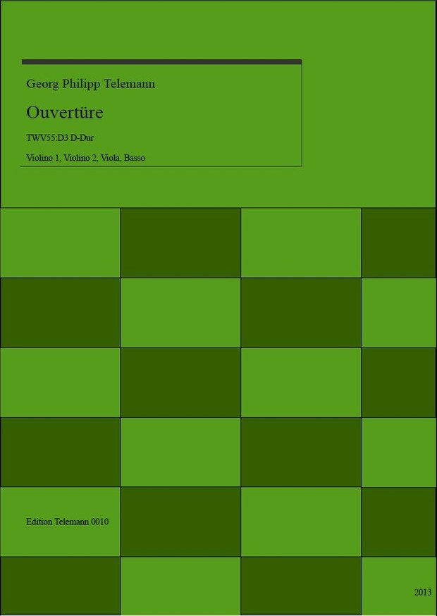 0010 Ouverture in D TWV55:D3