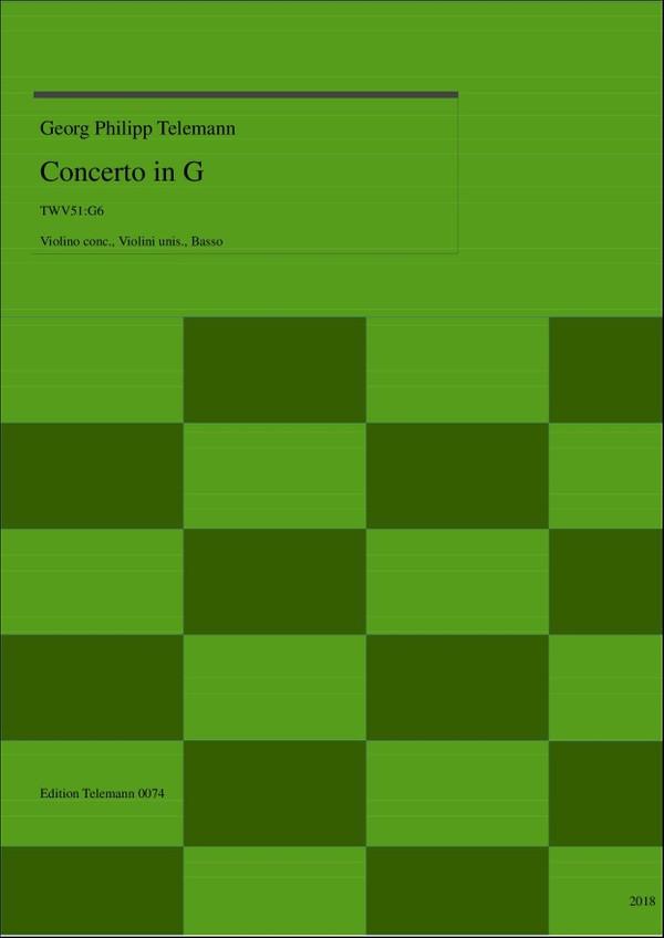 0074 Concerto in G TWV51:G6