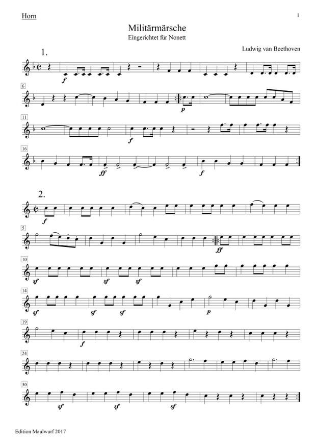 Beethoven Märsche