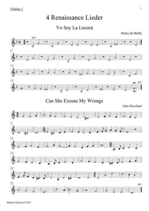 Renaissance Lieder