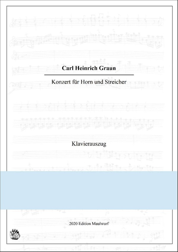 Graun Hornkonzert Klavierauszug