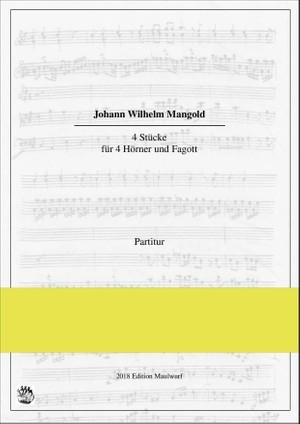 J.W. Mangold 4 Stücke