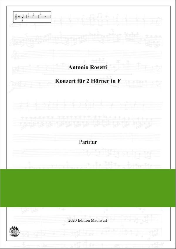 Rosetti Concerto in F für 2 Hörner