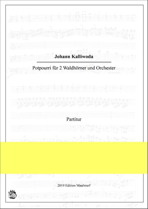 Potpourri für 2 Hörner und Orchester