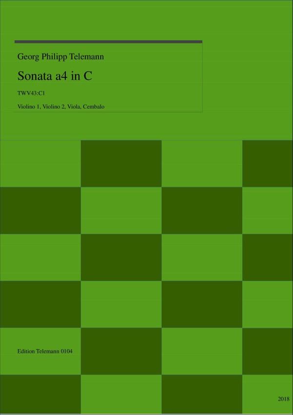 0104 Sonata in C, TWV43:C1