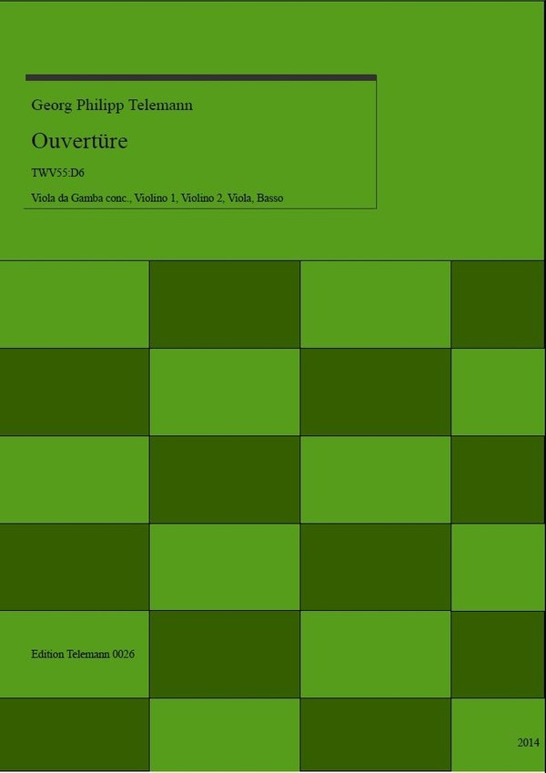 0026 Ouverture in D TWV55:D6