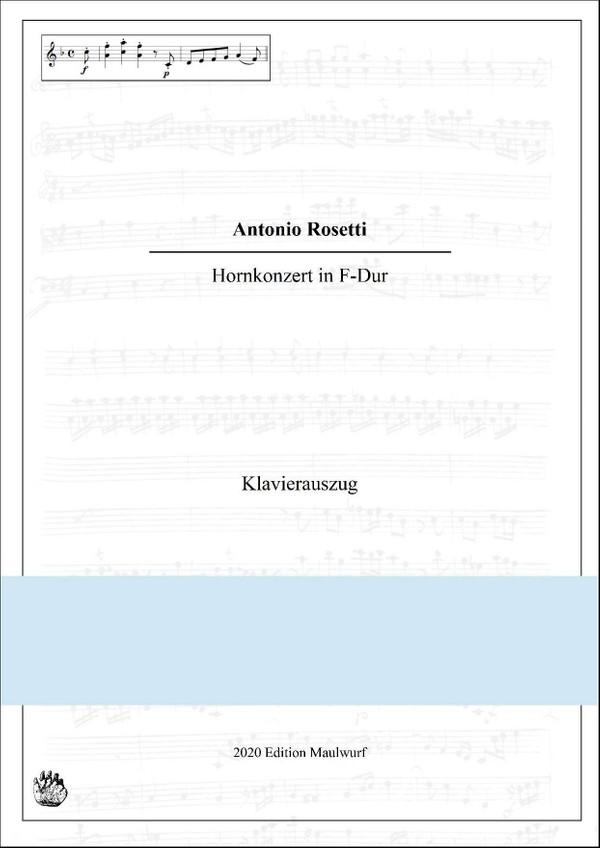 Rosetti Hornkonzert in F Klavierauszug