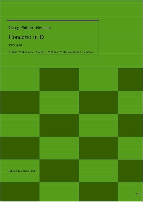 0096 Concerto in D, TWV54:D1