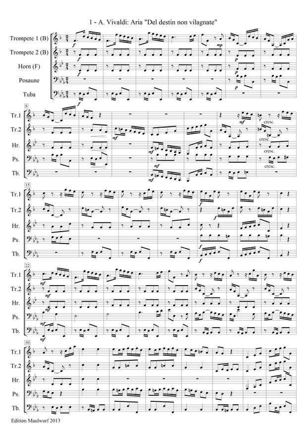 Spielbuch Nr.2 für Blechbläserquintett