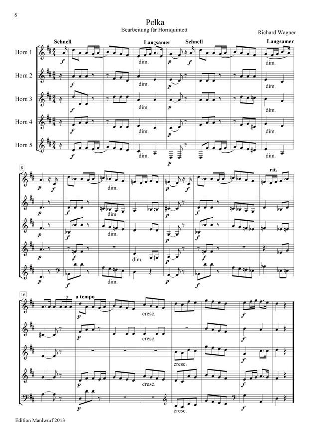 Wagner: Polonaise und Polka (Hornensemble)