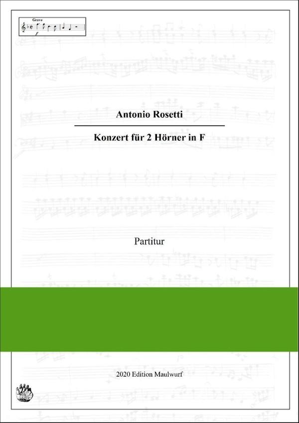 Rosetti Konzert für 2 Hörner in F