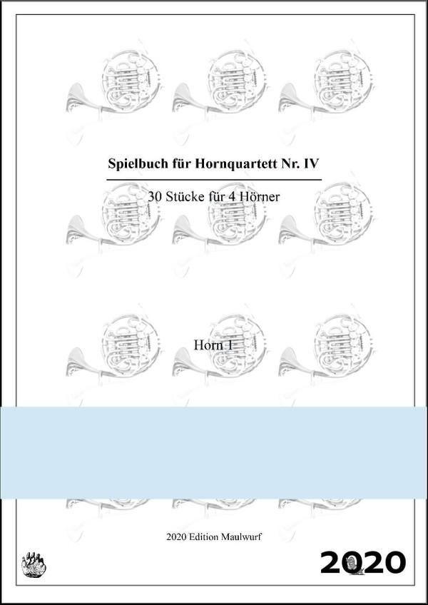 Spielbuch IV für Hornquartett