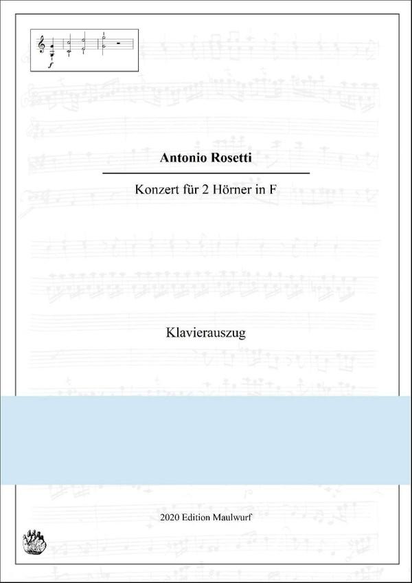 Rosetti Concerto in F für 2 Hörner, Klavierauszug