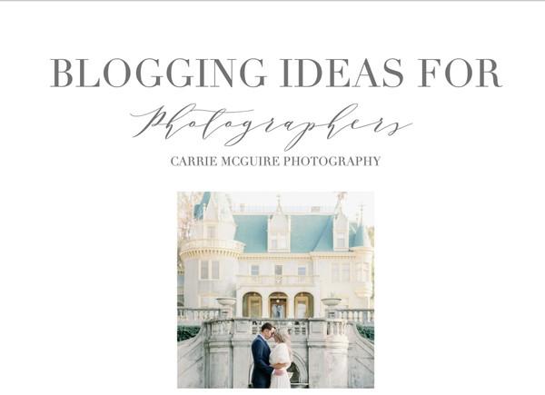 75 Blog Post topics for photographers
