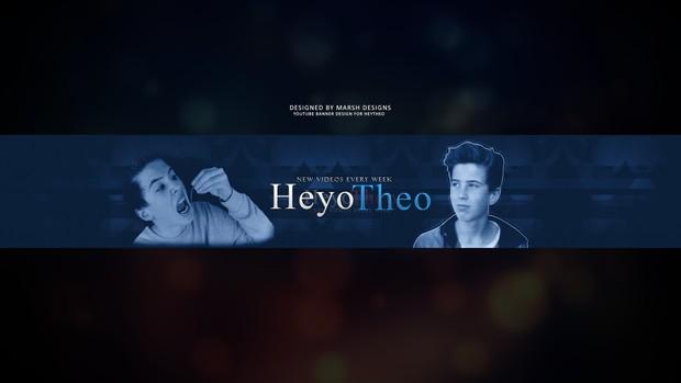 Heyo Youtube Banner template