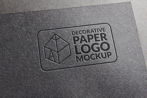 Decorative Paper Logo Mockup 3