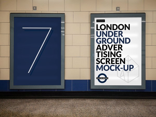 London Underground Advertising Screen Mock-Ups 13