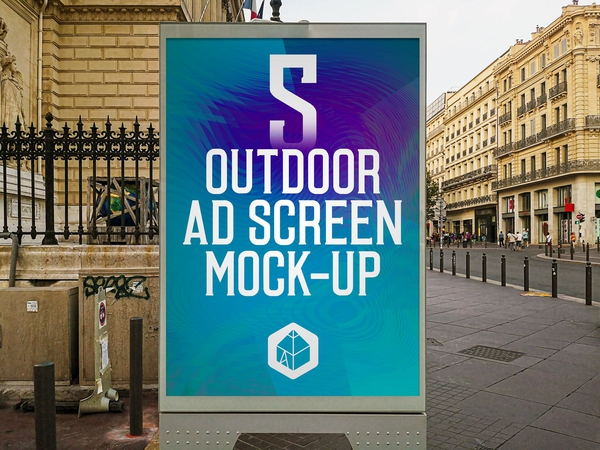 Outdoor Advertising Screen Mock-Ups 14 (v.3)